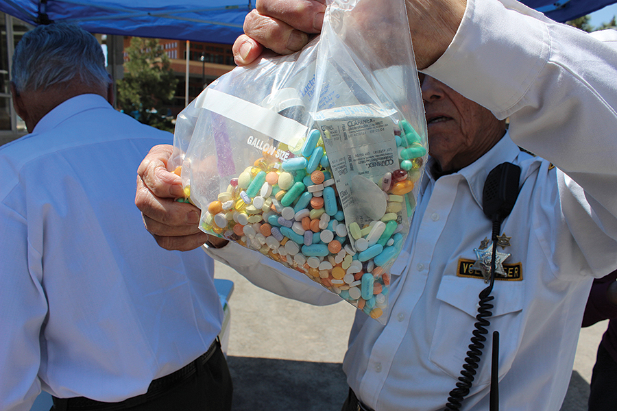 1.6 TONS: Prescription drug take back days have been happening in Truckee/North Lake Tahoe since 2010, allowing locals to safely dispose of unneeded or unwanted medication. The events happen twice a year, with 1.6 tons of pills disposed of since the first event eight years ago. Of the medications handed over, 10 percent are opioids. Photo courtesy Tahoe Truckee Future Without Drug Dependence