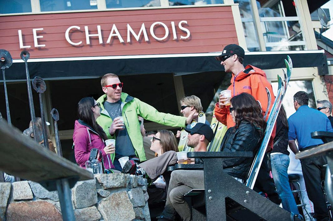 LE CHAMOIS at Squaw Valley has been a long-favorited spot by locals and famous athletes alike. Bundle up and sit outside by the fire if you dare. Photo courtesy Squaw Valley Alpine Meadows