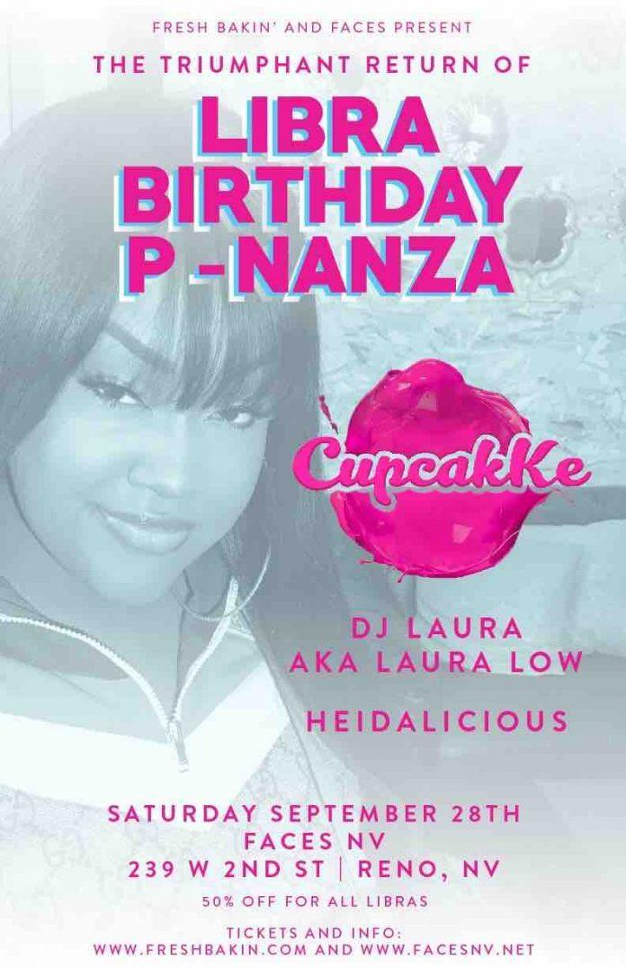 Libra Birthday P-Nanza ft CupcakKe, DJ Laura at FACES NV